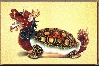 Драконочерепах - магическое животное с головой дракона и телом черепахи.