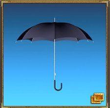 Зонтик (или навес) используется для защиты от воров, особенно у входной двери.