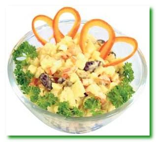 Салат из цветной капусты с арахисом