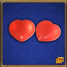 красные или розовые сердечки