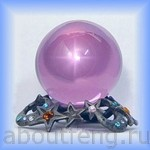 хрустальный шар из розового кварца