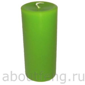зеленая свеча для исцеления