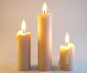 обережный круг и свечи