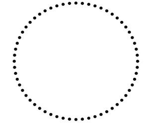 круг из точек