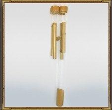 Бамбуковая музыка ветра имеет приятный приглушенный мягкий звук. Если Вы хотите привлечь побольше энергии в Ваши спальню, детскую комнату или кабинет, то повесьте флейты или бамбуковую музыку ветра.