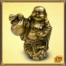 Хоттей (холщовый мешок) - один из семи богов счастья, бог богатства, достатка, беззаботности и веселья.