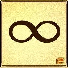 Символ бесконечности - лежащая на боку восьмерка. Этот символ пришел из космоса и обладает очень сильной энергетикой