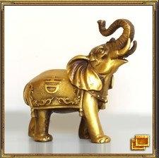 Слон символизирует силу, мудрость и защиту, притягивает удачу. Используя свой хобот, слон может достать что-то находящееся достаточно далеко от него. Эту его способность используют в фэн-шуй, чтобы привлечь удачу благоприятной звезды процветания в дом. Если благоприятная звезда находится прямо на входе и вся удача поступает через дверь - это замечательно, но такое получается очень редко. В остальных случаях можно обратиться за помощью к слону. Слона ставят на подоконник, хоботом в направлении хорошей звезды, и он таким образом будет втягивать удачу с улицы через окно в дом