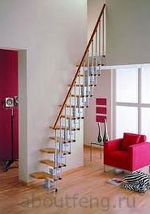 лестница с открытыми ступенями