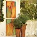 рисунки на стене в саду
