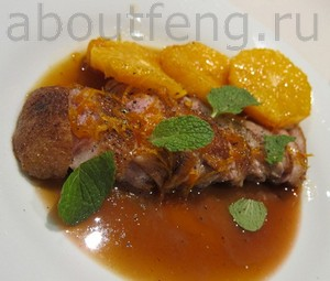рецепт китайской кухни - филе утки с соусом