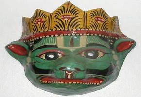 маска - изображение майяского бога